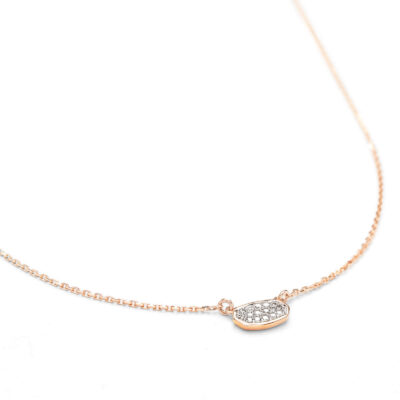 Marisa Pendant Necklace in 14 Karat Rose Gold with Diamonds