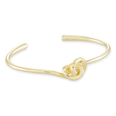 Presleigh Gold Metal Cuff Bracelet