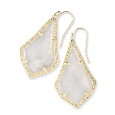 Alex Gold Metal Ivory Mother of Pearl Earrings