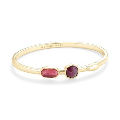 Davie Bangle Bracelet Gold Pink Mix