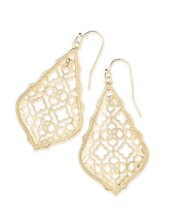 Addie Gold Metal Earrings