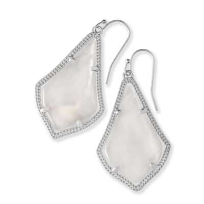 Alex Rhodium Ivory Mother of Pearl Earrings