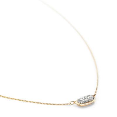 Lisa 14 Karat Yellow Gold and Diamond Pendant Necklace