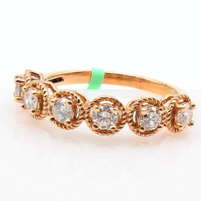 14K Rose Gold Diamond Band 0.60ctw