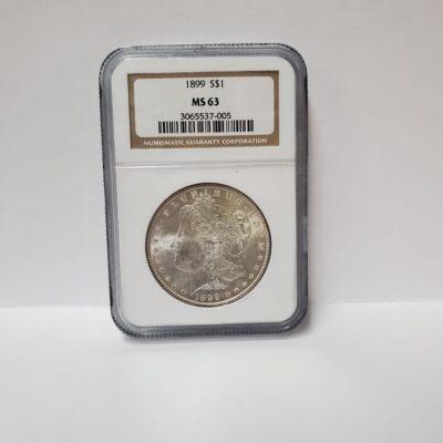 1899 Morgan Dollar NGC MS 63