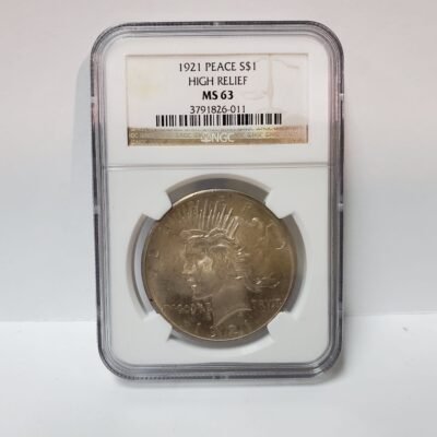 1921 Peace Dollar NGC MS 63