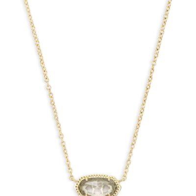 Elisa Gold Metal Clear Necklace