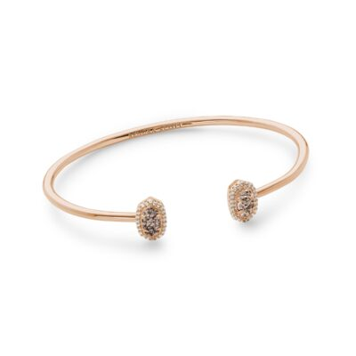 Calla Rose with Rose Gold Drusy Bracelet