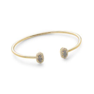 Calla Gold Metal Platinum Drusy Bracelet