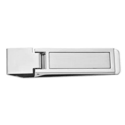Silver Tone Hinged Money Clip