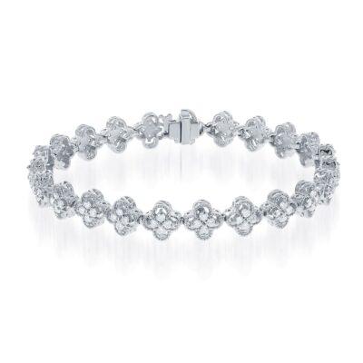 14KW Vintage 2.00ctw Diamond Bracelet