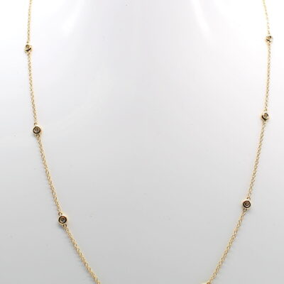 14K Yellow Gold Diamonds by the Yard Necklace