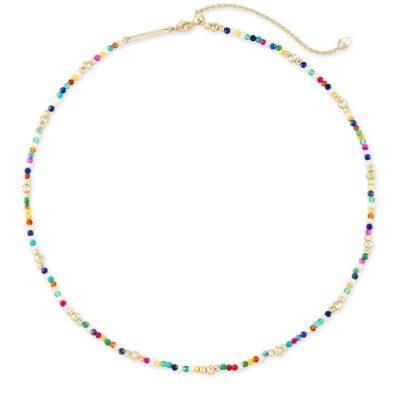 Scarlet Choker Necklace Gold Multi Color