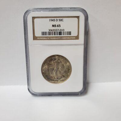 1945 D Walking Liberty Half Dollar NGC MS 65