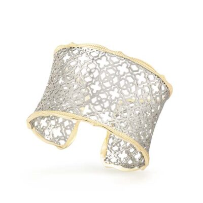 Candice Gold and Rhodium Bangle