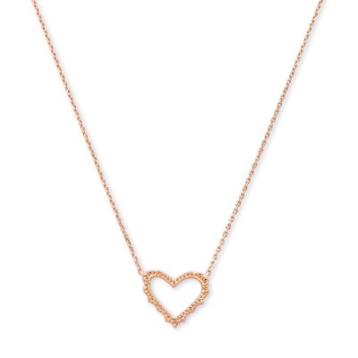 Sophee Heart Pendant in Rose