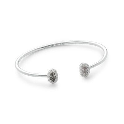 Calla Rhodium Platinum Drusy Bracelet