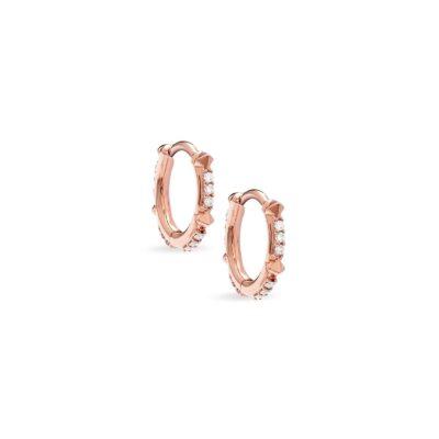 Jett 14Karat Rose Gold and Diamond Earring Hoops