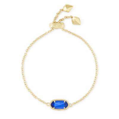 Elaina Gold Metal Cobalt Bracelet