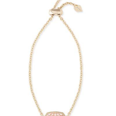 Elaina Gold Metal Rose Mix Filigree Bracelet