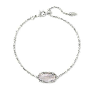 Elaina Single Slide Bracelet Rhodium Gray Illusion