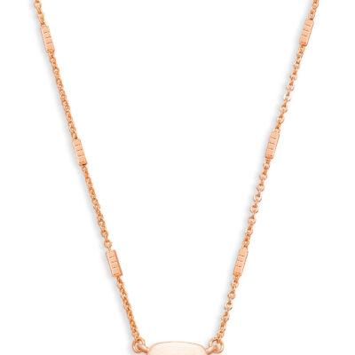 Fern Rose Gold Metal Necklace